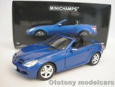 MERCEDES BENZ SLK CLASS 2004 BLAU METALLIC 1/18 MINICHAMPS 100033131 NEU