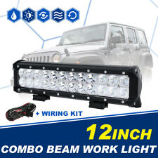 "12"" 72W Cree LED Light Bar Combo Driving Lamp Truck Offroad Boat SUV UTV 4WD 10"""