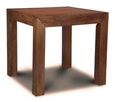 DARK DAKOTA FURNITURE SOLID MANGO 80CM DINING TABLE (57N)