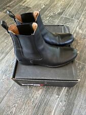 Frye Melissa Chelsea Boot Black Leather Size 8