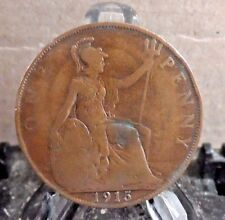 CIRCULATED 1915 1 PENNY UK COIN (31817)1