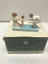 """Rare! 1983 Norman Rockwell'S """"Baby'S First Step� Fig. By Norman Rockwell Museum"""