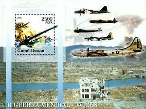 Guinea-Bissau 2005 - Military Planes of World War II - Souvenir Sheet - MNH
