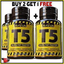60 X T5 FAT BURNER CAPSULES STRONGEST LEGAL SLIMMING PILLS PURE DIET WEIGHT LOSS