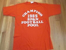 VINTAGE 80'S 1985 SP&N FOOTBALL POOL T-SHIRT SIZE XL 50/50