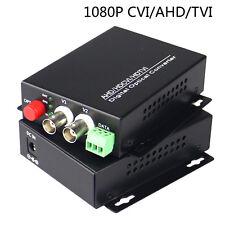 2CH Video Data Fiber Optical Media Converters S/M For 1080P HD CVI AHD TVI CCTV