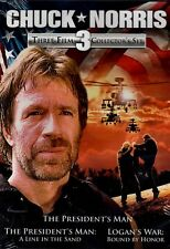 NEW DVD -  CHUCK NORRIS - THE PRESIDENT'S MAN + LOGANS WAR + A LINE IN THE SAND