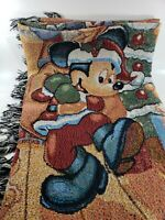 Disneyland Resort Christmas Tapestry Throw Blanket Mickey Minnie Pluto Disney