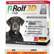 Rolf Club 3d Collar Large Dog Prevention & Protect Anti Fleas and Ticks