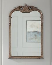 "French Tuscan Ornate Arched Wall Mirror Acanthus Leaf Mantle Bath Vanity 42.5""H"