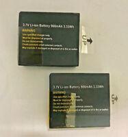 2 x Akku 3.7V Li-ion Battery 900mAh 3.33Wh Sportcam Qumox SJ4000 SJ5000 SJ6000