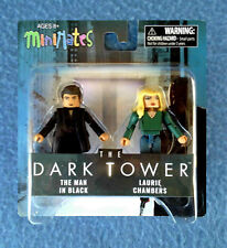MINIMATES THE DARK TOWER THE MAN IN BLACK AND LAURIE CHAMBERS  2.5 INCH FIGURES