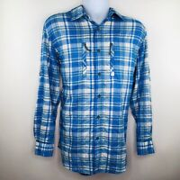Magellan Mens Shirt Size Medium Blue Plaid Longsleeved Vented Fishing MagWick