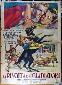 manifesto 2F film LA RIVOLTA DEI GLADIATORI Gianna Maria Canale V.Cottafavi 1958