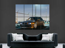 BMW E38 7 SERIES CAR POSTER SUNSET  WALL ART PRINT IMAGE