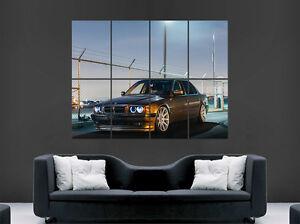 BMW E38 7 SERIES CAR POSTER SUNSET  WALL ART PRINT IMAGE