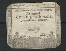Assignats et billets du Trésor français