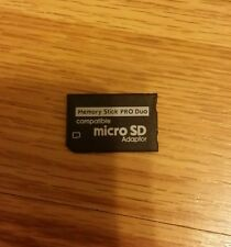 NEW SD SDHC TF TO MEMORY STICK MS PRO DUO ADAPTER CONVERTER CARD READER
