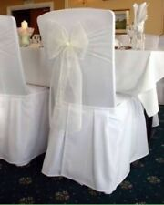 50 Ivory Organza Sheer Chair Sashes Wedding Banquet Ceremony Function Decoration