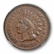 1867 1c Indian Head Cent NGC VF 25 Very Fine to Extra Fine Better Date