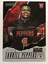 2017 PANINI FATHER'S DAY JABRILL PEPPERS HYPER PLAID ROOKIE #'d 2/10
