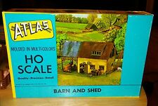 Rare NOS Vintage 60's Atlas 727-129 Barn And Shed HO Scale Buildings