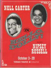 "Nell Carter & Nipsey Russell  ""Hello, Dolly!""  Program/Playbill 1991 Long Beach"