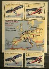 POLAND STAMPS MNH 3Fi2658-59+bl73 Sc2515-16+a Mi2806-07+bl87-Vict.Challenge,1982