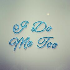 I Do & Me Too Shoe Stickers : Diamante Wedding Shoe Crystals Blue Bride & Groom