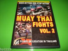 Muay Thai Fights - Volume 2 (DVD, 2007) Filmed on location in Thailand - NEW