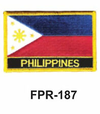 "2-1/2'' X 3-1/2"" PHILIPPINES Flag Embroidered Patch"