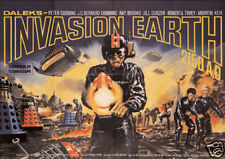 Daleks invasion earth Sci-fi cult sci fi Movie poster print