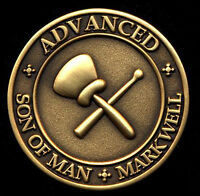 Standard English Masonic Mark Token - Son of Man - Mark Well -