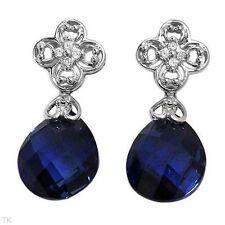 Sapphire 10k Fine Earrings