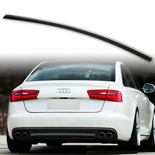Painted Gloss black Audi A6 S6 C7 4G2 2011 - 2018 Boot Lip Spoiler Sport S Line