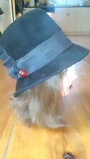 Vintage Ladies Sheraton Hat Brown Dress Style 1940's - 1960's - Made in Italy