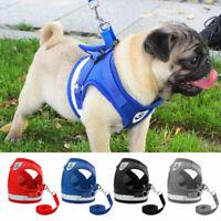 Mesh Dog Harness Leads Reflective Pet Puppy Cat Vest Jacket French Bulldog Pug