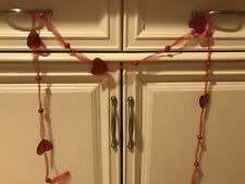Valentines Day Double Heart Wreath Garland Decor Gift Hang Over A Mirror Hearts