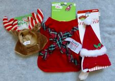NEW Cat or Small Girl Dog 3  Christmas Costumes Dress, Hat/Scarf, Headpiece