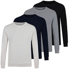 Next Mens Textured Knit Crew Neck Pure Cotton Jumpers New Sweater Pullover Top