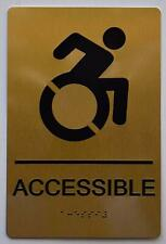 New listing Accessible Sign - Gold(Aluminium, Gold/Black,Size 6X9).(ref1820)