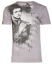 Marjo Trachten Herren Shirt Gr. XL Wiggerl grau