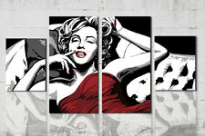 Quadro moderno Marilyn Monroe dipinto a mano su tela 4 pz. idea regalo pop art