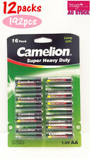 12x Pack of 16pcs Camelion AA Batteries Super Heavy Duty 1.5V Long Life Bulk