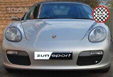 ZunSport Porsche Boxster  987.1 Manual 2004-08 Black Steel Mesh Outer Grille Set