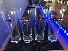 Matching Set of 4 Heineken 14 Oz Pint Beer GlassesLot 7.25� Glass Man Cave