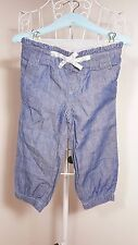 """Size 12-18M """"Monsoon"""" Gorgeous Girls Blue Pants! Great Condition. Bargain Price!"""