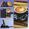 CAFFEINE COFFEE CUP DRINK FLIP WALLET CASE FOR APPLE IPHONE PHONES