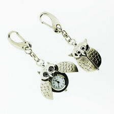 Novelty Owl with Opening Wings Miniature Clock Keyring