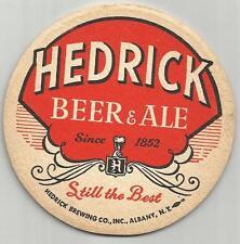 """1950's Hedrick Beer & Ale Coaster Albany, NY -3 1/2"""" """"#010 """"Since 1852"""""""